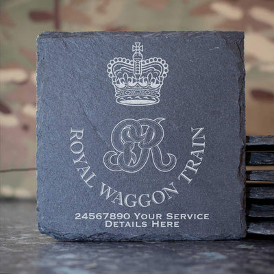 Royal Waggon Train Slate Coaster
