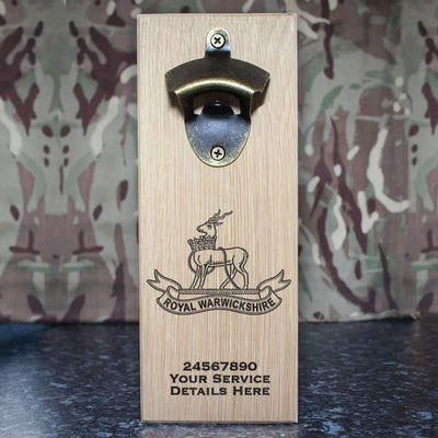 Royal Warwickshire Regiment Wall-Mounted Bottle Opener