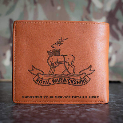 Royal Warwickshire Regiment Leather Wallet