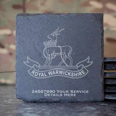 Royal Warwickshire Regiment Slate Coaster