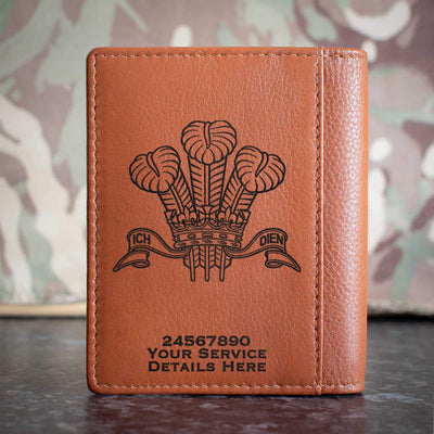 Royal Regiment of Wales Credit Card Wallet