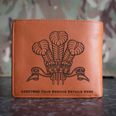 Royal Regiment of Wales Leather Wallet