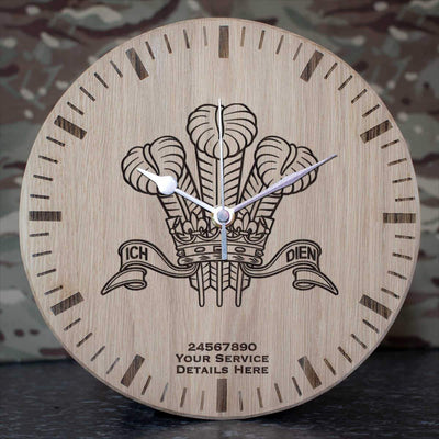Royal Regiment of Wales Oak Clock