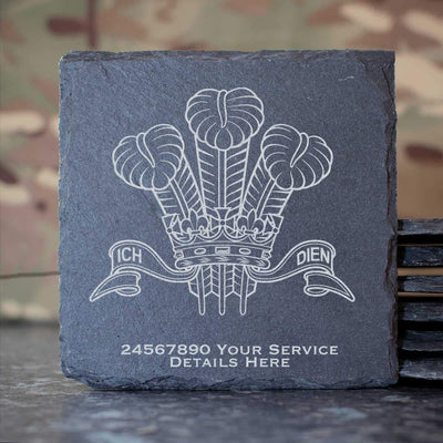 Royal Regiment of Wales Slate Coaster