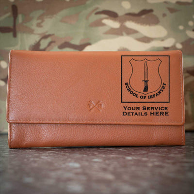 School of Infantry Leather Purse