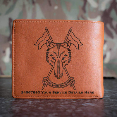 Scottish and Northern Irish Yeomanry Leather Wallet