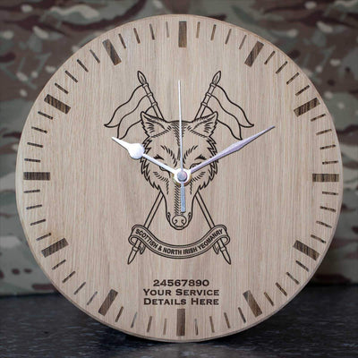 Scottish and Northern Irish Yeomanry Oak Clock