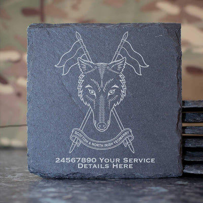 Scottish and Northern Irish Yeomanry Slate Coaster