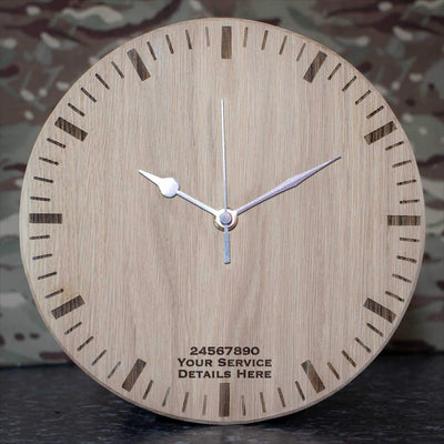 Scottish Horse Oak Clock