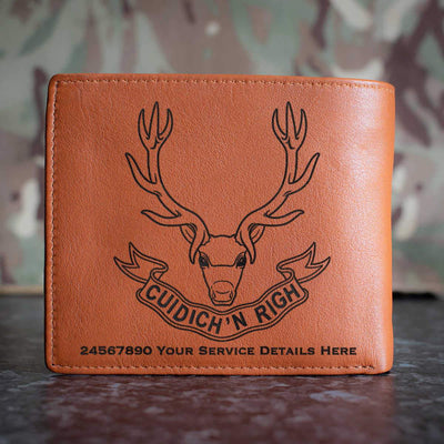 Seaforth Highlanders Leather Wallet