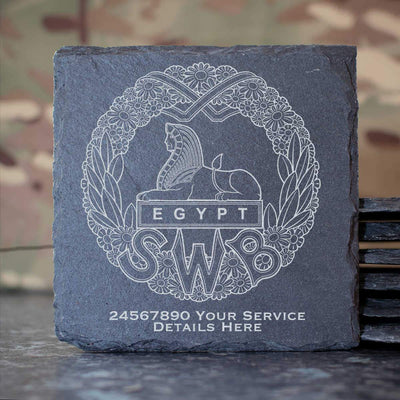 South Wales Borderers (WW1) Slate Coaster