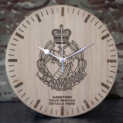 Royal Army Dental Corps Oak Clock