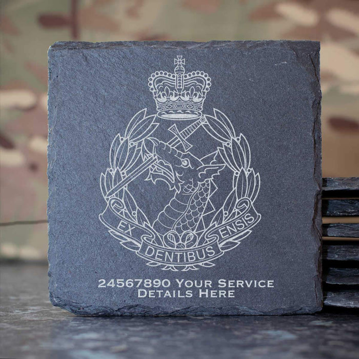 Royal Army Dental Corps Slate Coaster