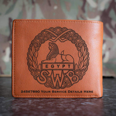 South Wales Borderers (WW2) Leather Wallet