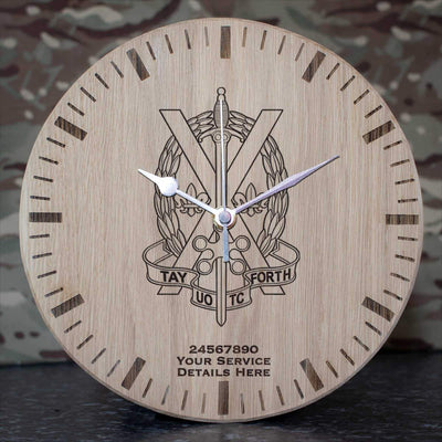Tayforth Officer Training Corps Oak Clock