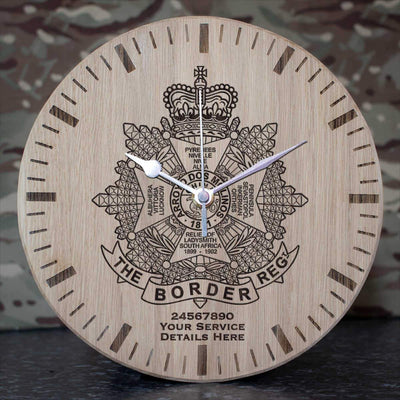 The Border Regiment Oak Clock