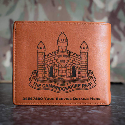 The Cambridgeshire Regiment Leather Wallet