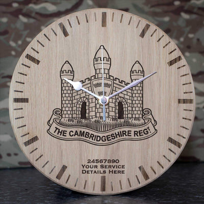 The Cambridgeshire Regiment Oak Clock