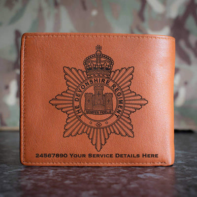 The Devon Regiment Leather Wallet