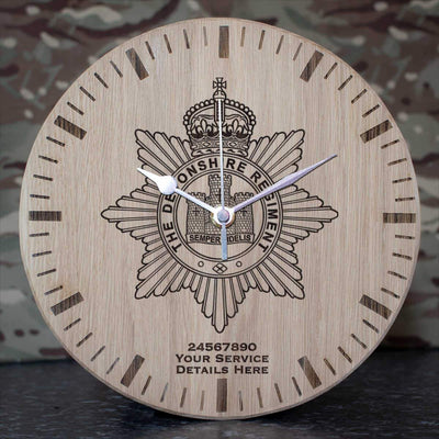 The Devon Regiment Oak Clock