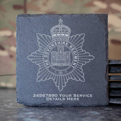 The Devon Regiment Slate Coaster