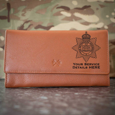 The Devon Regiment Leather Purse