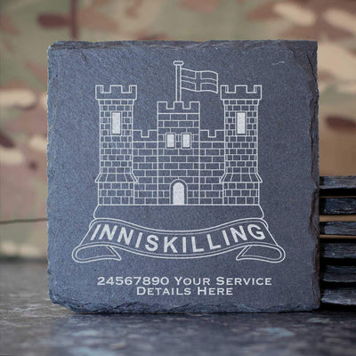 The Inniskillings (6th Dragoons) Slate Coaster