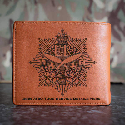 Queens Own Gurkha Logistic Regiment Leather Wallet