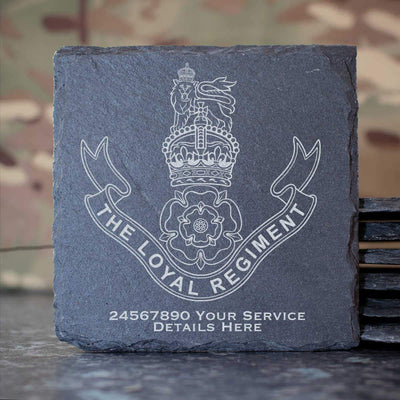 The Loyal Regiment Slate Coaster