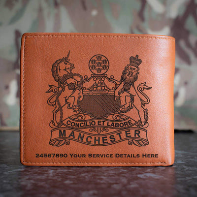 The Manchester Regiment Leather Wallet