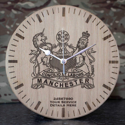 The Manchester Regiment Oak Clock