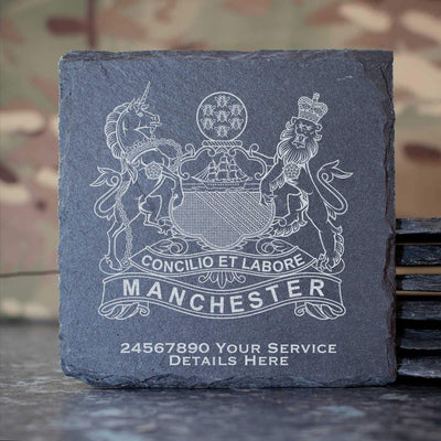 The Manchester Regiment Slate Coaster
