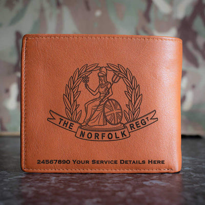 The Norfolk Regiment Leather Wallet