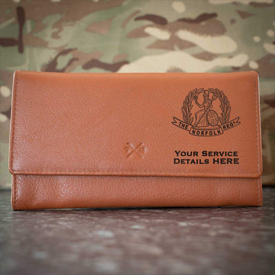 The Norfolk Regiment Leather Purse