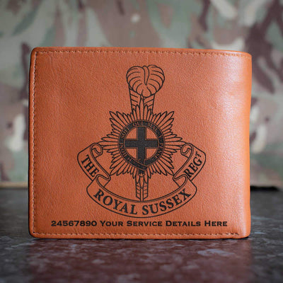 The Royal Sussex Regiment Leather Wallet