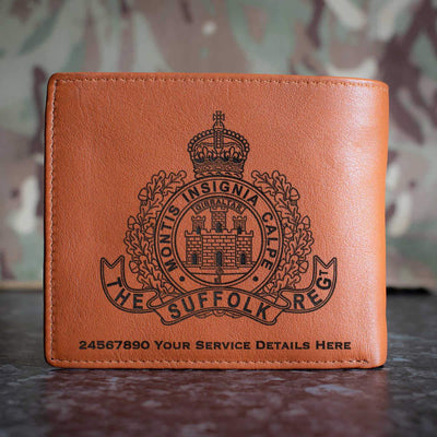 The Suffolk Regiment Leather Wallet