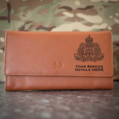 The Suffolk Regiment Leather Purse