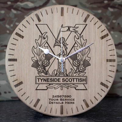 Tyneside Scottish Oak Clock