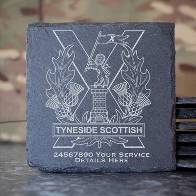 Tyneside Scottish Slate Coaster