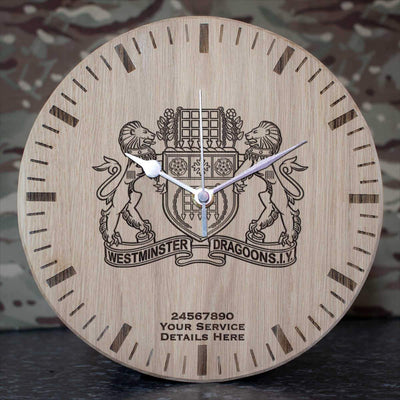 Westminster Dragoons Oak Clock