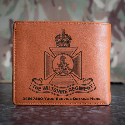 Wiltshire Regiment (Kings Crown) Leather Wallet