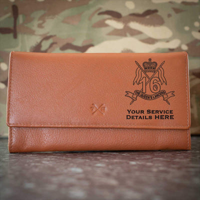 16th5th Queens Royal Lancers Leather Purse