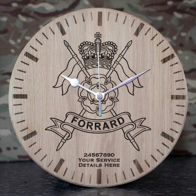 Yorkshire Yeomanry Oak Clock