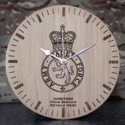 Army Cadet Force Oak Clock