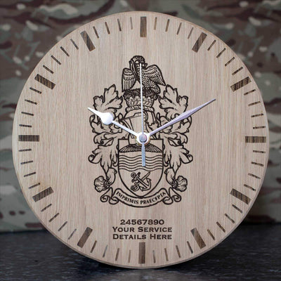 Central Flying School Badge Oak Clock