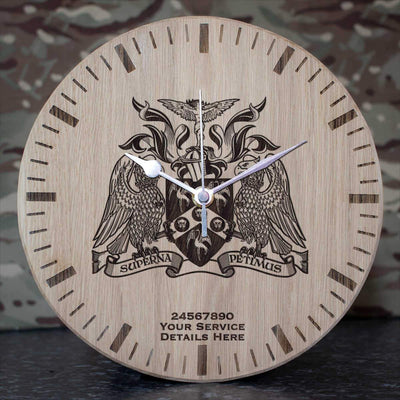 Cranwell College Coat of Arms Oak Clock