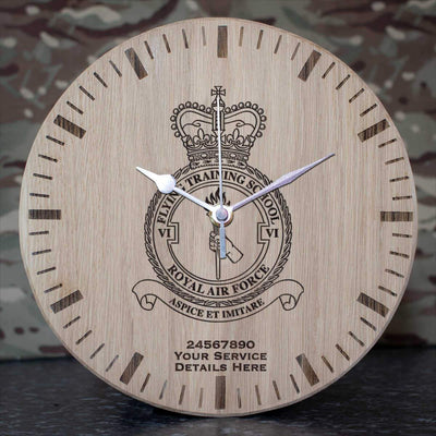 RAF 6 Flying Training School Oak Clock