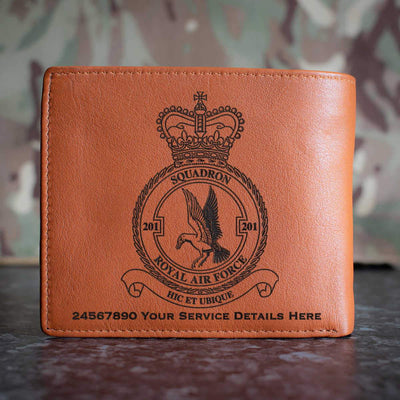 RAF 201 Squadron Leather Wallet