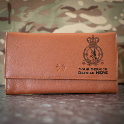 RAF 201 Squadron Leather Purse