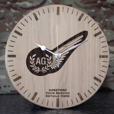 RAF Air Gunner Brevet Oak Clock